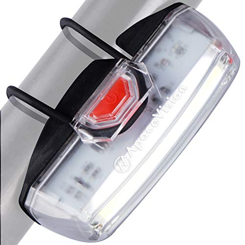 Bike Headlight USB Rechargeable by Apace - Powerful LED Bicycle Front Safety Light - Super Bright 200 Lumens Output for Optimum Cycling Visibility - Upgraded 2019 Version