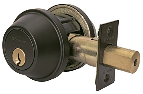 Master Lock DSCHSD10B Heavy Duty Single Cylinder, Grade 2 Commercial Deadbolt with Bump Stop, Oil Rubbed Bronze Finish