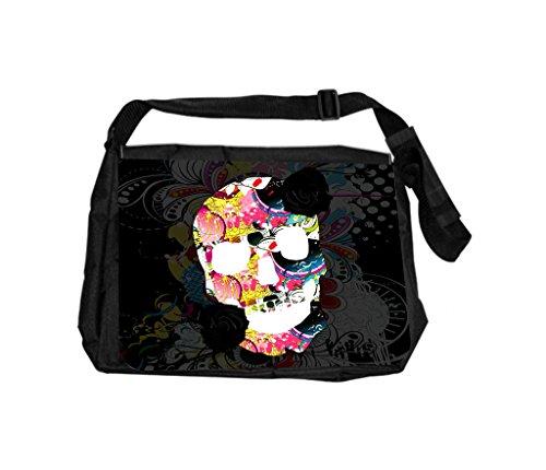 Floral Sugar Skull Rosie Parker Inc. TM School Messenger Bag by Rosie Parker Inc. (Image #2)