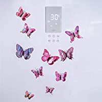 Dktie 12PCS 3D Colorful Butterfly Wall Stickers Decor DIY Art Decorations for Nursery Classroom Offices Kids Girl Boy Baby Bedroom Bathroom Living Room Magnets and Glue Sticker Set