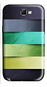 Samsung Note 2 Case Colored Paper Lines Shelves146 3D Custom Samsung Note 2 Case Cover