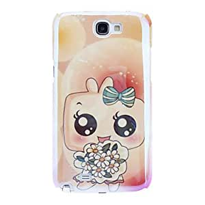 Nsaneoo - Cartoon Child Holding Flower Pattern Hard Case for Samsung Galaxy Note 2 N7100