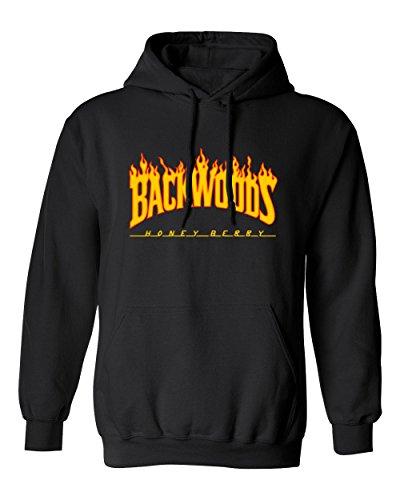 RIVEBELLA Shirt Flame Backwoods Mens Hoodie Hooded Sweatshirt