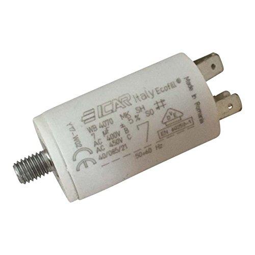 Condensatore permanente per motore con terminali, 7µF
