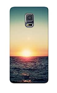 ZWAbRnQ4852cceeW Case Cover Protector Series For Galaxy S5 Lovely Sunset Case For Lovers
