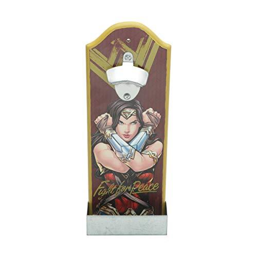 Wonder Woman Abridor Garrafa Movie Fighter Urban Vermelho 14X7X36cm