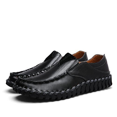 Dooxi Hommes Décontractée Plat Loafers Chaussures Confort Mocassins Bateau Chaussure Mode Conduite Chaussures Noir ikINypKyMi