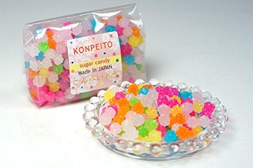Konpeito Japanese Tiny Sugar Candy Crystal 100g (Rainbow)