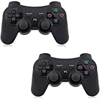 PS3 Controller Wireless 2 Pcs Double Shock Gamepad for...
