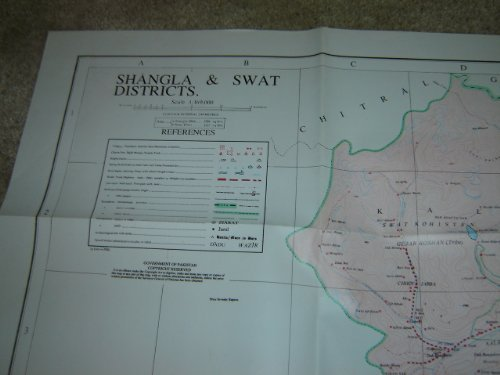 Shangla & Swat Districts - Map of Pakistan / Scale 1:169:000 / 1st Edition
