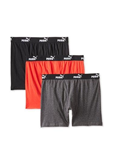 Puma VM3302-036 3pack Boxer Brief Gray / Red XL