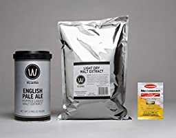 Premium English Pale Ale No Boil Complete Beer Kit, Makes 5-6 gallons