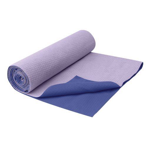 Gaiam No Slip Yoga Mat Towel, Violet