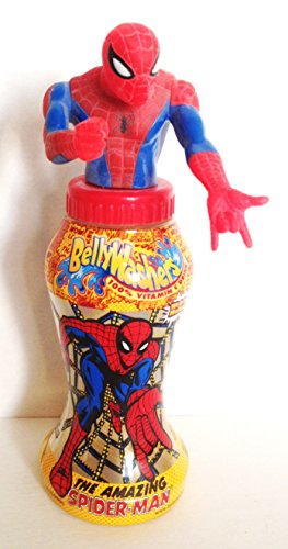Marvel Comics: Amazing Spider-Man Bellywasher Beverage Bottle With Topper 2001 (Beverage Topper compare prices)