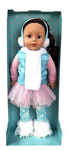 Madame Alexander Winter Snow Bunny Brunette Brown Eyed 18 inch Doll