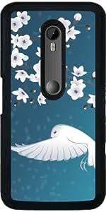 Funda para Motorola Moto G (3 generation) - Flores De Cerezo Pájaro Animal by Nina Baydur