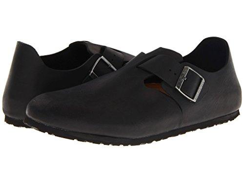 Birkenstock Unisex London Black Oiled Leather 38 W (US Men's 5-5.5 / US Women's 7-7.5)