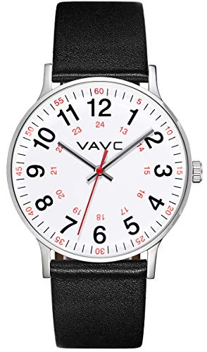 (VAVC Nurse Watch for Doctors,Students and Medical Professionals with Second Hand. Easy to Read Quartz Wrist Watch)