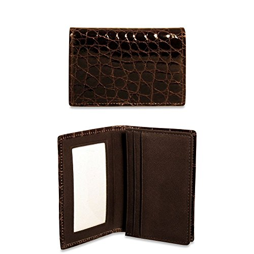 Jack Georges American Alligator Business Card Holder AL706 (BROWN) by Jack Georges