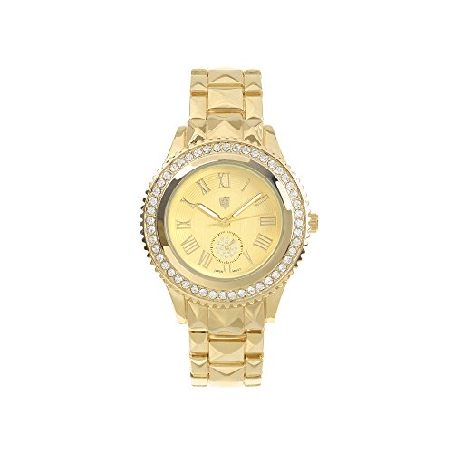 Journee Collection Womens Crystal-Accent Stainless Journee Accent