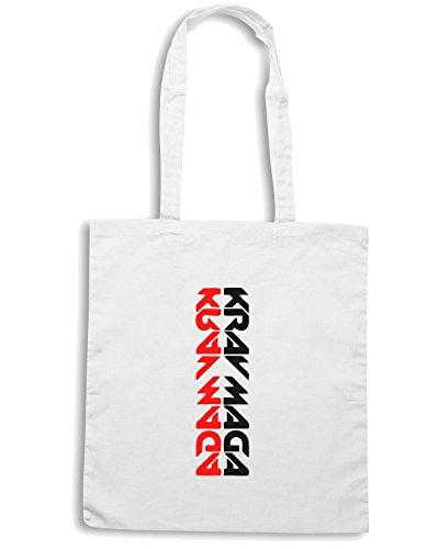 T-Shirtshock - Bolsa para la compra TAM0096 krav maga dark tshirt Blanco