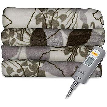 Amazon Com Sunbeam Velvet Plush Heated Throw Blanket 60