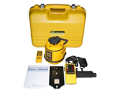 "NWI NRL800 1/16"" Accuracy Auto Level Rotary Laser w/ Slope Match Function with Rechargeable Batteries and Detector"
