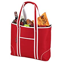 Picnic at Ascot Extra Large Insulated Cooler Tote, Red