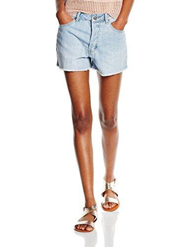 Vero Moda Callie, Shorts Donna Blu (Light Blue Denim)