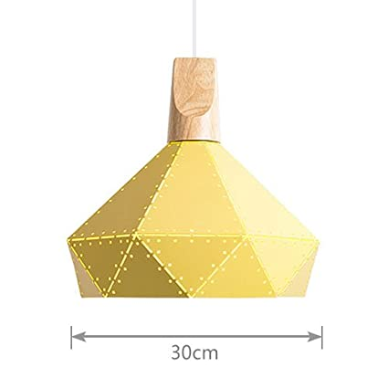 pendant lights nordic led lamp christmas decorations for home wood lamps room with lampshade yellow - Christmas Decorating Pendant Lights