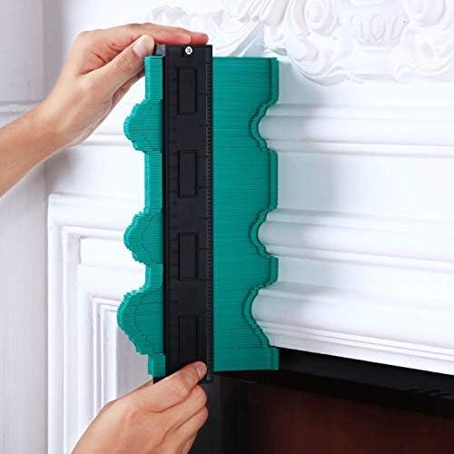 medidor de perfil Regla de medida Medidor de contorno de contorno ancho para esquinas de carpinter/ía y contorneado Duplicador de medidor de contorno de 2 paquetes con cerradura