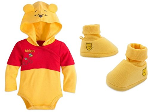 Winnie The Pooh Costume Bodysuit & Shoes Set for Baby Size 3-6 Months