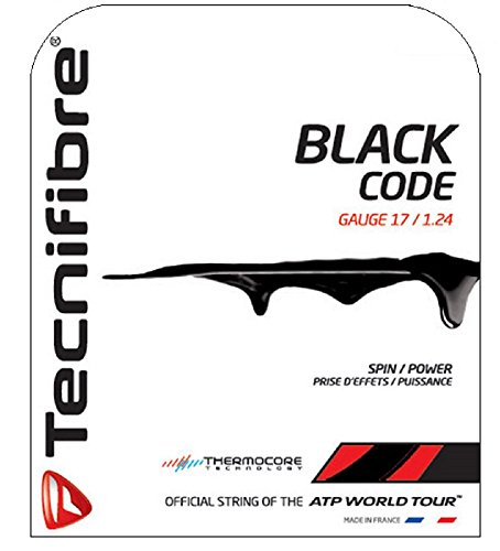 17g String Black Tennis (Tecnifibre Black Code Tennis String Set (17))