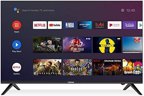 Caixun EC43S1A, 2020 Smart LED TV da 43 Pollici, Ultra HD 4K Televisori, HDR, Tuner Triplo(DVB-T2/T/C/S2/S), WiFi,3840 x 2160 Pixels [Classe di efficienza energetica A+]