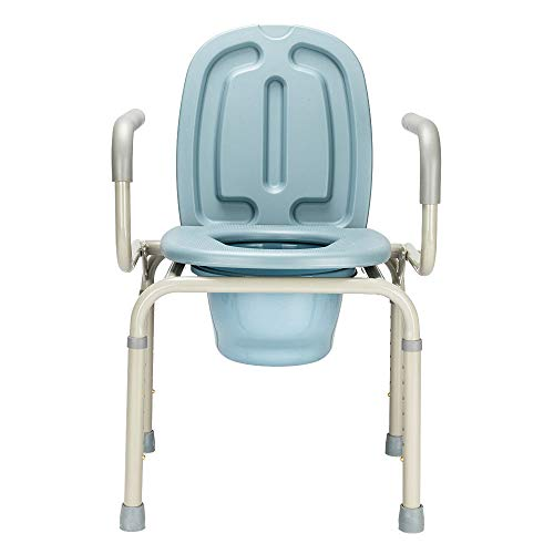 Height Adjustable Bedside Commode Seat Toilet Potty Chair Toilet Safety Frame Portable Versatile Multifunctional Elderly Disabled Handicapped People Hospital Medical Slip-Resistant Rubber Tips Chair by HPW (Image #6)