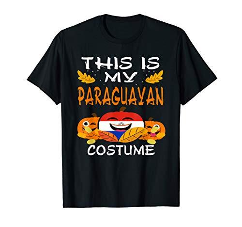 Paraguay Flag Partriot Halloween T-Shirt Paraguayan