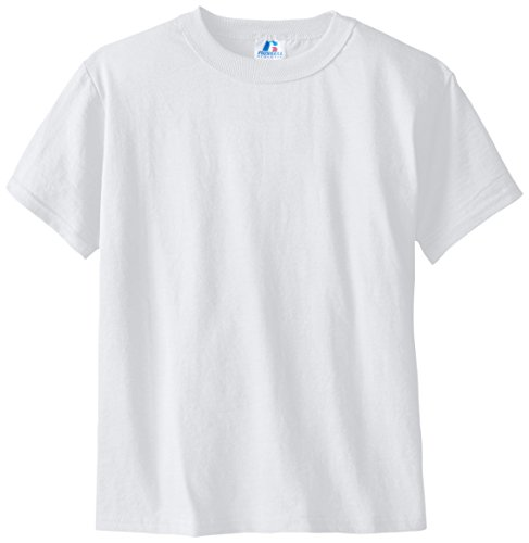 Russell Big Boys' Youth Nublend T-Shirt, White, Small