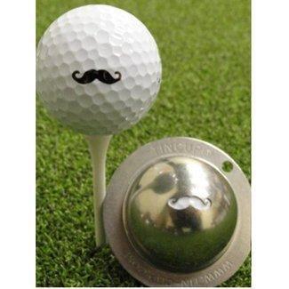 Tin Cup Stache Golf Ball Marker