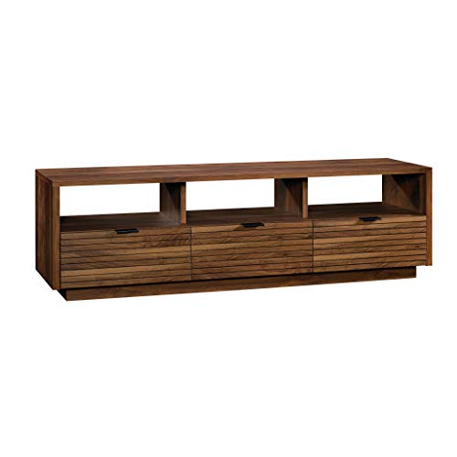 Medium Walnut Finish - Sauder 420834 Harvey Park Entertainment Credenza, Grand Walnut Finish