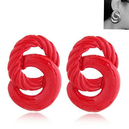 Waldenn Boho Geometric Women Leopard Round Dangle Drop Hook Ear Stud Earrings Jewelry | Model ERRNGS - 9080 |