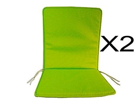Cuscini Con Schienale Per Sedie Da Esterno : Catay home set di cuscini con schienale color pistacchio per