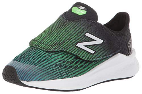 (New Balance Boys' Fast V1 Running Shoe, DEEP Ozone Blue/RGB Green/Black, 10 M US Toddler)
