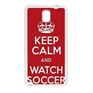 Keep Calm And Watch Soccer Fahionable And Popular Back Case Cover For Samsung Galaxy Note3
