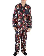 Marvel Comics Captain America Allover Floral Print Men's Pajama Set