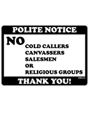 stika.co No Cold Callers Calling House signs Door Stickers Window Self-adhesive
