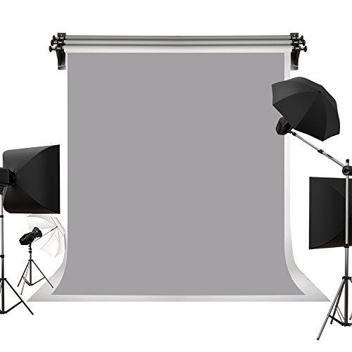 Kate 10x15ft / 3x4.5m Gray Cloth Backdrop Photo Background Solid Gray Backdrop Fabric Pure Backdrop Cloth Photography Props Printed Backdrops for Photographers Photo Backdrop by Kate