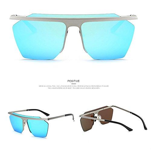 Gafas Gafas De Y De Los Silver Salvajes Masculinas Clip De del Sol Femeninas Gafas Hombres Deportes Blue Los Sol Sol De Marea del Femeninas Gafas De Caballero zqvBAA