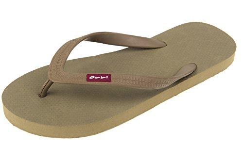 OLLI Men's Flip Flops - Fair Trade Natural Rubber - Eco Friendly & Vegan