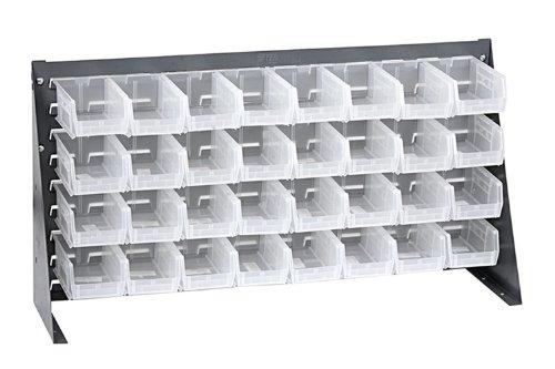 Offex Bench Rack Storage Unit with 32 Clear Storage Bins - 3