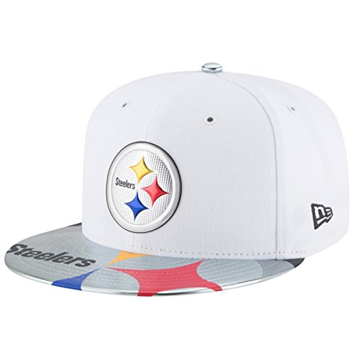 New Era NFL Pittsburgh Steelers 2017 Draft On Stage 59Fifty Fitted Cap, Size 7, White - Nfl Draft Cap